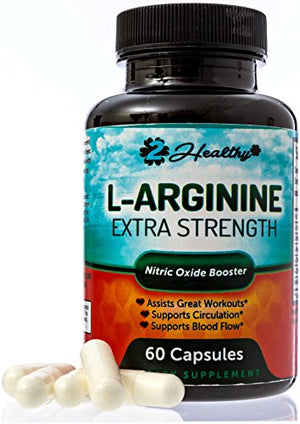 [2 Bottles] Extra-Strength Nitric Oxider Booster, L-Arginine Supplement, 1300mg Muscle Builder, Vascularity & Energy | Cardio...