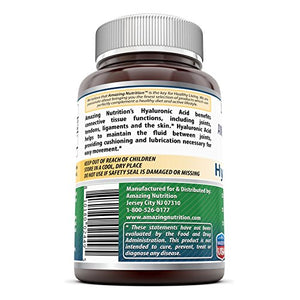 SHIP BY USPS: Amazing Formulas Hyaluronic Acid 100 mg 120 Capsules - Support healthy connective tissue and joints - Promote...