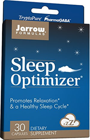 SHIP BY USPS: Jarrow Formulas Sleep Optimizer, Promotes Relaxation & A Healthy Sleep Cycle, 30 Capsules