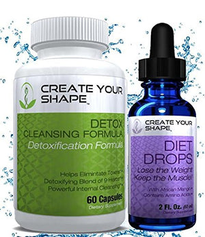 SHIP BY USPS - Best Seller - Create Your Shape Detox Cleanse Weight Loss & Diet Drops – Rapid Weight Loss – Flush Toxins -...