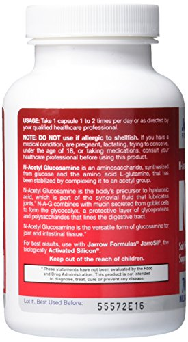 SHIP BY USPS: Jarrow Formulas N-A-G 700 mg, Supports Joints & Intestinal Function, 120 Veggie Caps