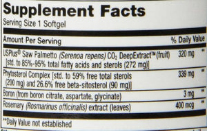 SHIP BY USPS: Life Extension PalmettoGuard Saw Palmetto with Beta-Sitosterol, 30 softgels