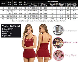 Women Chemises Lingerie Mini Babydoll Sleepwear Strappy Cami Dress S-3XL