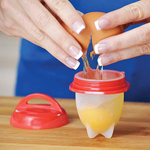 Egglettes Egg Cooker - Soft & Hard Egg Boiler - Egg Cooking Cup BPA Free, Non-Stick Silicone - AS SEEN ON TV