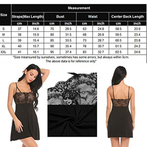 Women Sexy Chemise Lingerie Lace Babydoll Modal Sleepwear Full Slip Nightie Dress