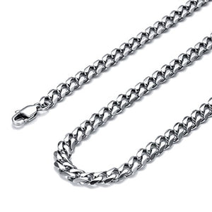 SHIP BY USPS: Jstyle Jewelry Stainless Steel Pendant Male Cross Necklace for Men 24 Inch 6.5mm Curb Chain