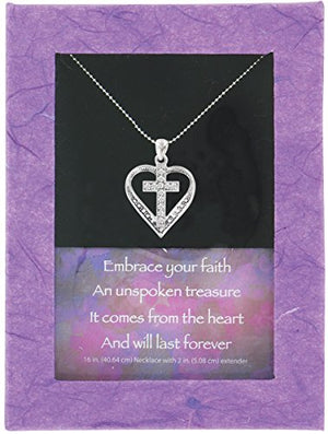 "SHIP BY USPS: Embrace Your Faith Pendant, 16"" + 2"" Extender"