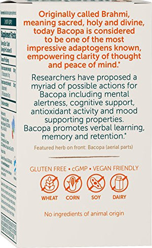 SHIP BY USPS: Himalaya Organic Bacopa/Brahmi, 60 Caplets for Mental Alertness, Cognitive Health &...