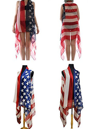 Women's Summer Swimsuit Beach Wear Cover up American Flag Vest | 4th of July Mothers Day Graduation Gift