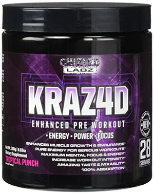 SHIP BY USPS: Best Pre Workout KRAZ4D Enhanced Formula for Serious Athletes. Supports Energy, Power, Focus & Muscle Growth....
