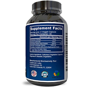 SHIP BY USPS: #1 Fast Garcinia Cambogia Weight Loss Supplements for Men & Women - Carb Blocker - Natural...