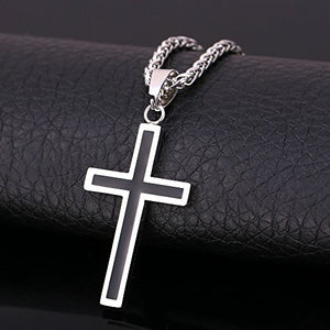 SHIP BY USPS: U7 Religious Jewelry Stainless Gold Plated Cross Pendant 22 Inch