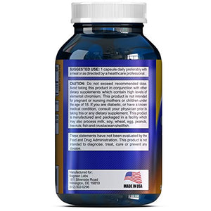 200 mcg Chromium Picolinate Metabolism Supplement - Chromium Function Support - Trace Mineral...