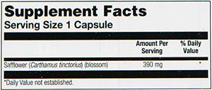 SHIP BY USPS: Safflower 390mg 100 - Capsule