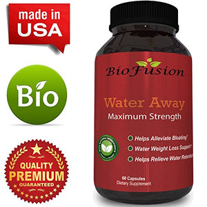 SHIP BY USPS: Natural Water Away Pills with Dandelion - Pure Diuretic Supplement for Water Retention + Bloating...