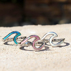 Oxford Diamond Co Wave Design .925 Sterling Silver Ring Sizes 2-12 CHOOSE your Color