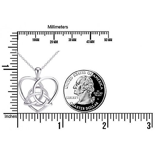 d95b5e5627bf ... SHIP BY USPS  925 Sterling Silver Good Luck Irish Celtic Knot Triangle  Vintage Love Heart ...