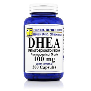 SHIP BY USPS Pure DHEA - 100 mg Max Strength - 200 Capsules - Supports Balanced Hormone Levels for Women &...