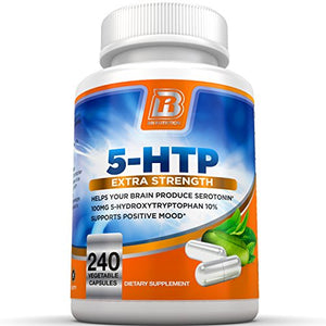 SHIP BY USPS BRI Nutrition 5-HTP - 120 Count 100mg 5 HTP Veggie Capsules - Helps to Improve Your Overall Mood, Relaxation,...