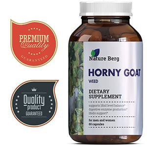1000 mg All Natural Horny Goat Weed Extract Pills - with Maca Root Powder - Top Rated Male + Female...