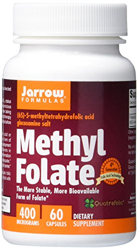 SHIP BY USPS Jarrow Formulas Methyl Folate 5-MTHF, Supports Brain, Memory, Cardiovascular Health, 400 Mcg, 60 Caps