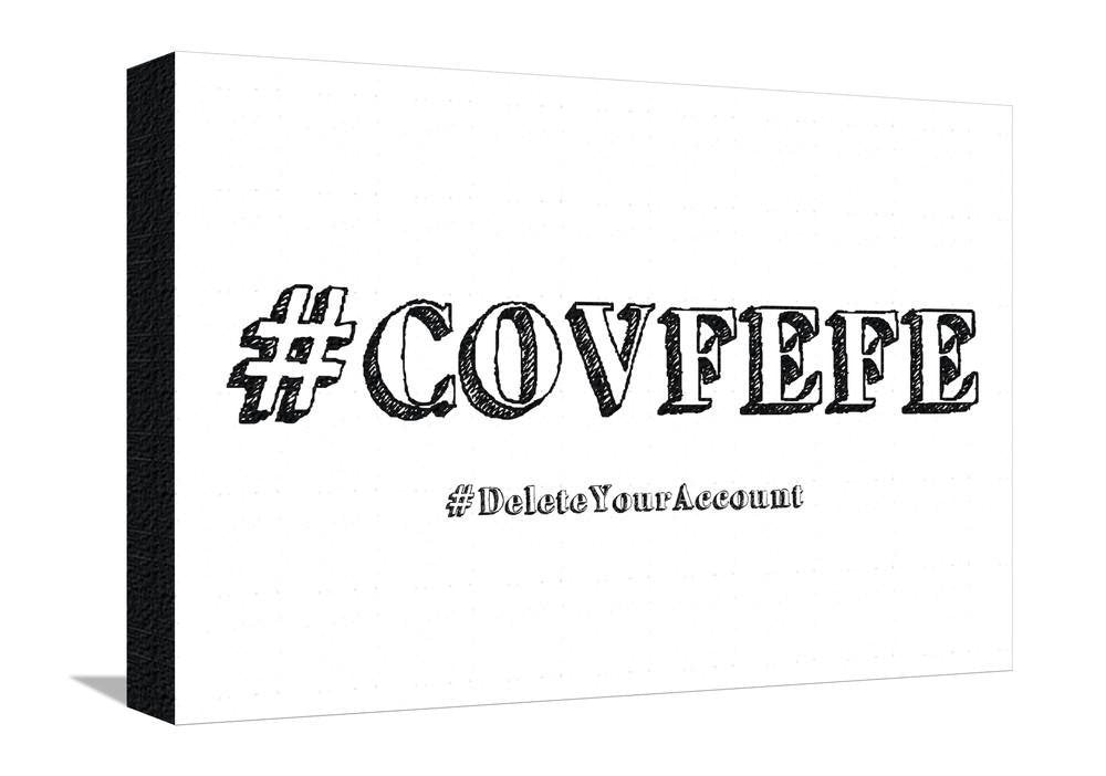 #DeleteYourAccount Stretched Canvas Print - 13 x 19 in