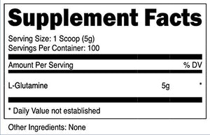 [500 Grams - 1.10 Lbs] Nutricost L-Glutamine Powder [500 G] - Pure L Glutamine - 5000mg per Serving - 1.1 Pounds - 100 Servings -...