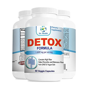 Detox & Cleansing Supplement Natural Herbal Formula Clean Colon Gentle Detoxify Improve Digestion Promote...