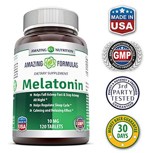 Melatonin for Relaxation and Sleep, 10 Mg, 120 Tablets