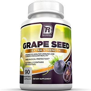 SHIP BY USPS BRI Nutrition Grapeseed Extract - 95% Proanthocyanidins 400mg Servings - Strongest Standardized Extract On The...