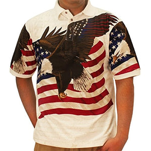 Cotton Traders Allover Patriotic Men's Polo Shirt