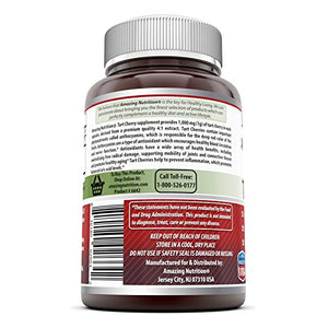 SHIP BY USPS: Best Seller - Amazing Formulas Tart Cherry Extract - 1000 Mg, 120 Capsules