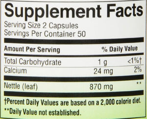 SHIP BY USPS: Nature's Way Nettle Leaf, 100 Capsules