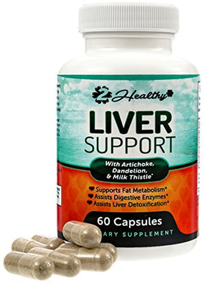 [2 Bottles] Liver Cleanse & Detox Support Supplement | Natural Detoxifier Blend with Milk Thistle + Turmeric + Ginger +...