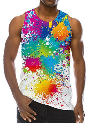 3D Print Funny Pattern Realistic Underwaist Gym Tank Tops for Men