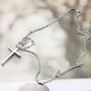 SHIP BY USPS Kolight Fashion Charm Cross Pendant Stainless Steel Polished Necklace Chain for Men/women with Gift Box Christmas Gift