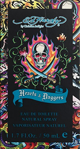 SHIP BY USPS Ed Hardy Hearts and Daggers Eau De Toilette Spray by Christian Audigier, 1.7 Ounce