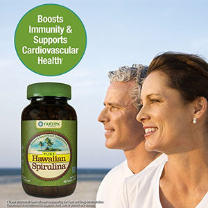 SHIP BY USPS - #1 Best Seller - Pure Hawaiian Spirulina - 500mg tablets 400 count – Boosts Energy and Supports Immunity – Vegan, Non GMO...