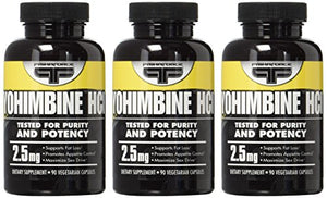SHIP BY USPS Yohimbine Hcl Supplements Primaforce 90 3 Pack