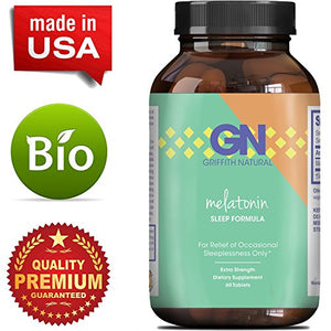 SHIP BY USPS: Pure Melatonin Sleep Aid – Fall Asleep Fast + Easier Best All Natural Supplement – Deep Calm + Restful...