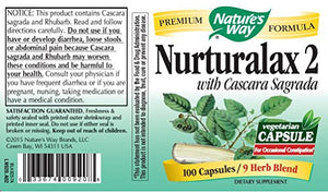 SHIP BY USPS: Nature's Way Nurturalax 2 With Cascara Sagrada 8...