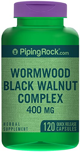 SHIP BY USPS Piping Rock Wormwood Black Walnut Complex 400 mg 120 Quick Release Capsules Herbal Supplement