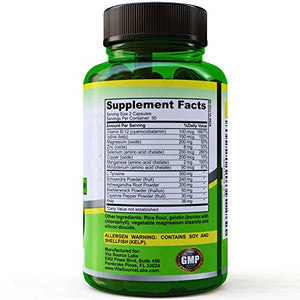 [2 Bottles] Thyroid Support Supplement with iodine, Energy And Focus Enhancing Supplement - Natural Thyroid...