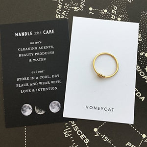 HONEYCAT Love Heart Knot Ring in 24k Gold Plate, 18k Rose Gold Plate | Minimalist, Delicate Jewelry