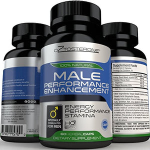 SHIP BY USPS Oztosterone Male Performance Enhancement Testosterone Booster for Men - All Natural Vegan Made in the US...