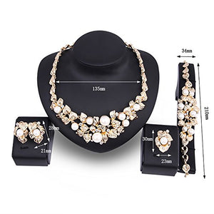 SHIP BY USPS: KAVANI luxury African jewelry 4 pieces set necklace ring earrings bracelet set