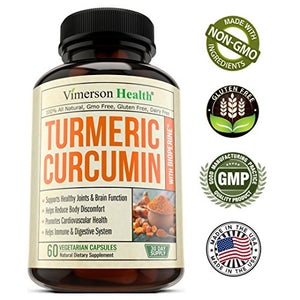 SHIP BY USPS: Turmeric Curcumin with Bioperine Joint Pain Relief - Anti-Inflammatory, Antioxidant Supplement with...
