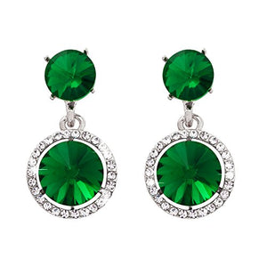 SHIP BY USPS: Omnichic Fashion Emerald Color Round Shape Drop Necklace Wedding Jewelry For Women