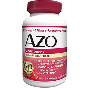 AZO Cranberry Urinary Tract Health Dietary Supplement* – 1 Serving = 1 Glass of Cranberry Juice^ - Helps Maintain...