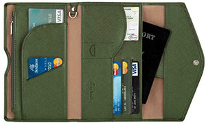 SHIP BY USPS: Travelambo Rfid Blocking Passport Holder Wallet & Travel Wallet Envelope 7 Colors